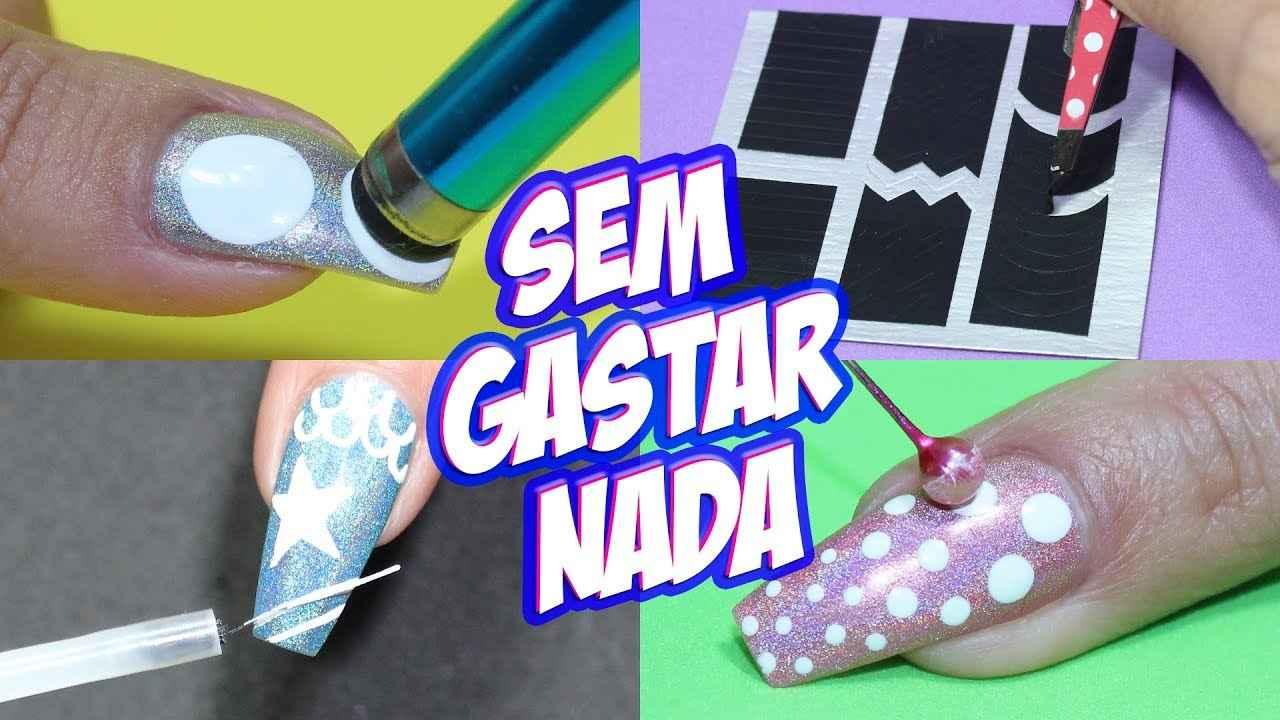 KIT DE UNHA CASEIRA SEM GASTAR NADA #1 | Unhas da Lalá