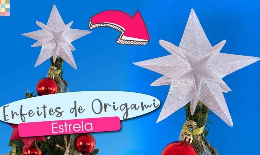 Estrela de Natal para o topo da árvore  de Origami