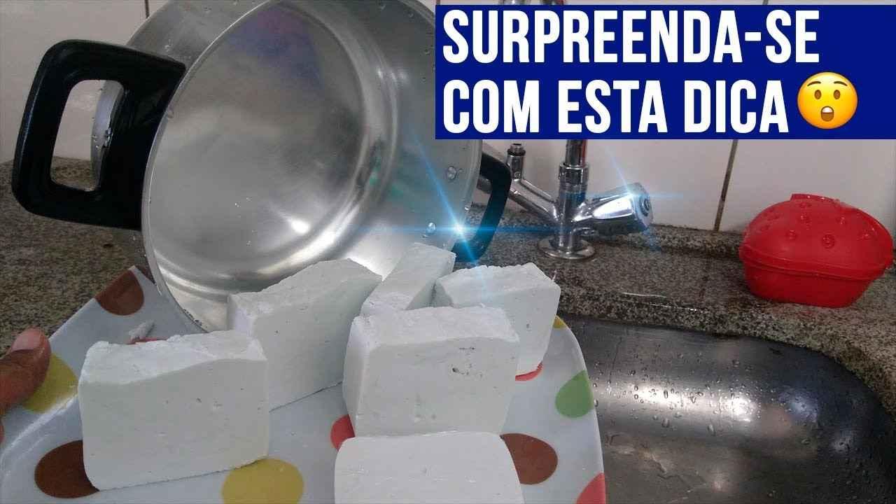 SABÃO CASEIRO PARA DESENCARDIR ROUPAS E DAR BRILHO EM PANELAS