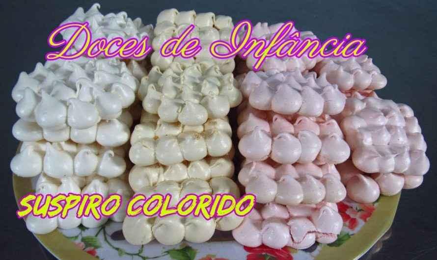 DOCES DE INFÂNCIA  SUSPIRO COLORIDO
