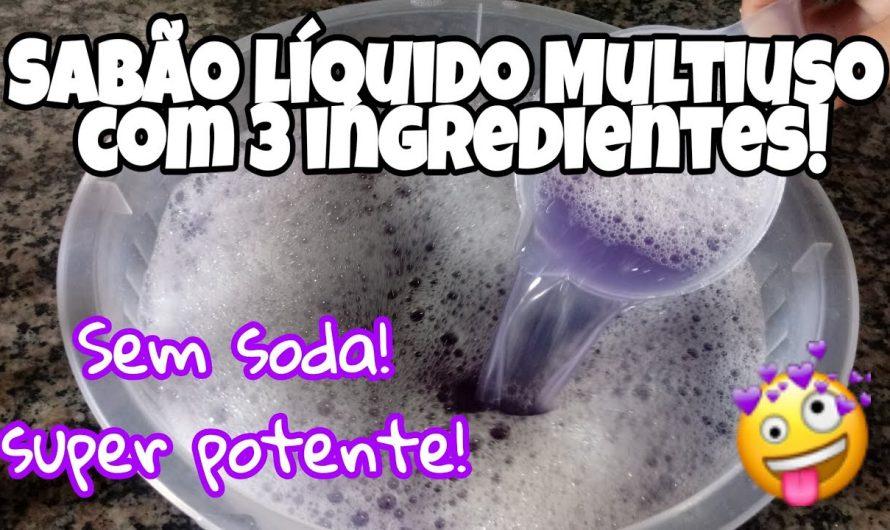 Sabão líquido com 3 ingredientes, incrível!