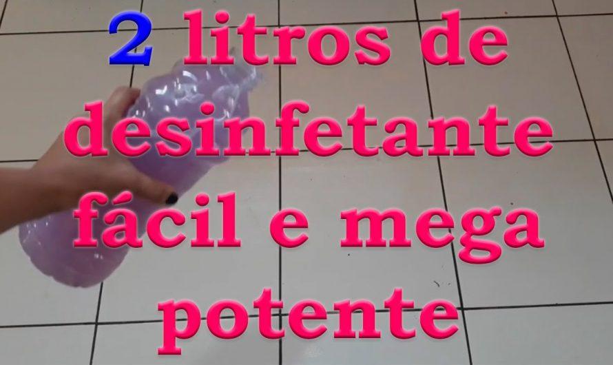 2 LITROS DE DESINFETANTE MEGA POTENTE E FÁCIL