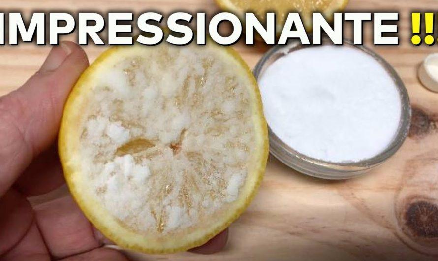 Esprema 1/2 limão e bicarbonato de sódio e você vai ficar surpreendido com o resultado